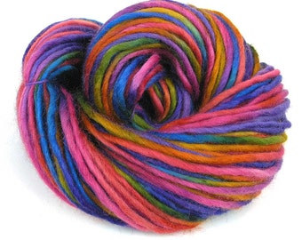 Bulky Yarn Hand Dyed Bulky Wool Yarn Single Ply - Princess