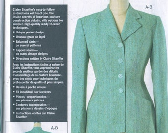 Vogue 7908 Misses Couture Jacket Pattern Claire Shaeffer Womens Sewing Pattern Size 6 8 10 Bust 30 31 32  UNCUT
