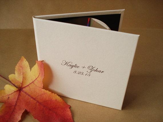 Custom DVD Cover / CD Case / DVD Sleeve: hardback, you design the cover. Wedding Photography Cover