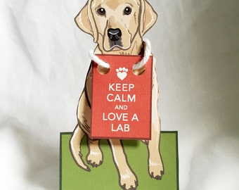 Keep Calm Lab - Desk Decor Paper Doll