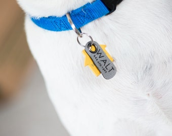 Silent Dog Tag Washable Collar Tag Pet ID Vegan Made in the USA