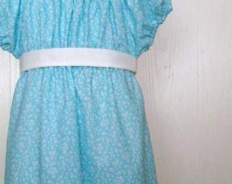 Girl's Regency Dress, Jane Austen, Girls Regency Style Dress Size 7/8 Ready to Ship