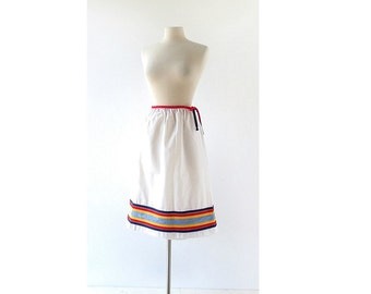 Vintage Wrap Skirt | Palm Springs Weekend | Striped Skirt | 70s Skirt | 27W