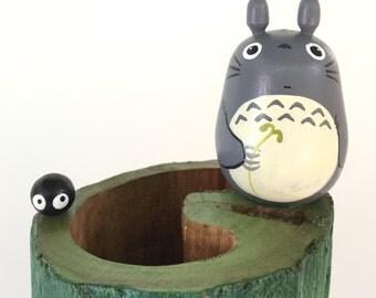 My Neighbor Totoro TEAK WOOD VASE Studio Ghibli 74