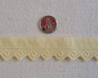 """TR010 ~ Yellow trim Embroidered trim 1/2"""" wide Cotton"""