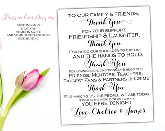 Wedding Sign, Thank You Sign, Wedding Reception Sign, Wedding Decor, FS2
