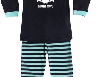 Night Owl Silhouette Baby and Toddler Pajama Set