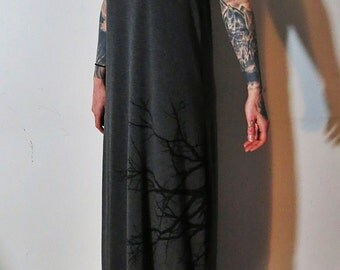 Hell Couture Lavinia Gray Maxi Dress