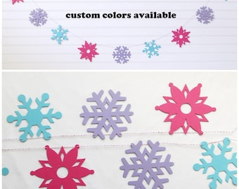 Snowflake Garland - 4.25 inch Snowflakes - Snowflake Decorations Snowflake Banner Winter Party Decoration Snowflake Party Christmas Decor