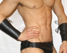 Buckle Sides Leather Brief