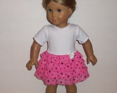 Sparkling Pink, Doll Dress, Ruffle Modern, Party, Special Occasion, American Made, Girl Doll Dress, 18 Inch Doll Clothes