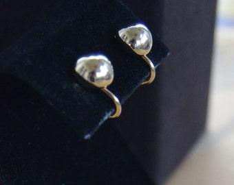 "Classic Vintage 9mm Gold tone Ball Screw back, Clip Earrings, ""Napier"" (AR2)"