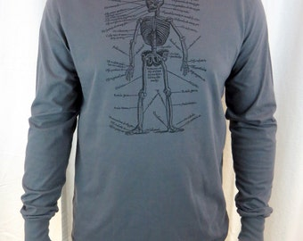 Anatomical Skeleton Longsleeve Hooded Shirt