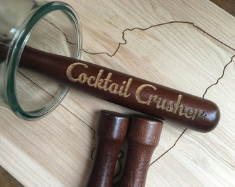 Cocktail Crusher Wooden Drink Muddler