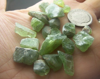 Peridot crystal - by the gram - natural raw rough- wire wrap stones - green  - raw rough - lot of specimens natural bulk crystals orgonite