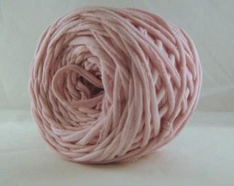 Handyed T shirt Yarn- Dusty Pink, 60 Yards, Pink Yarn, Jersey Yarn, Cotton Yarn, Jersey Yarn