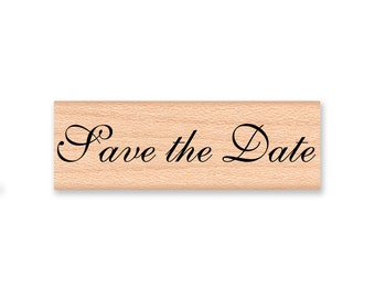 Save the Date~Rubber Stamp~Wedding Stamp~Engagement~Engaged~Announcement~photo stamp~wood mounted stamp (35-43 CAPS)(35-44 LOWER)