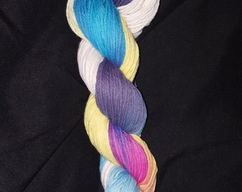 """Back to school SALE 10% OFF- Freak Show- """"Coney Island Collection"""" 100 Organic Cotton Yarn, Hand Dyed, Rainbow Gradient"""