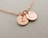 Rose Gold Bracelet personalised jewellery new mum stamped gift for mum Initial Disc Bracelet Monogram Jewellery bracelet best friend