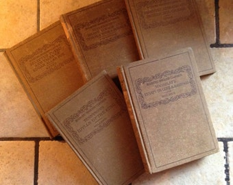 Eclectic English Classics Antique Book Collection