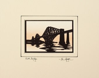 Forth Bridge (Edinburgh UK) Hand-Cut Papercut
