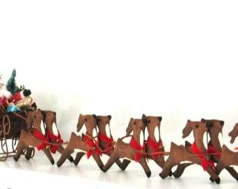 Rustic Christmas Decorations, Primitive Santa Centerpiece, Reindeer Decor