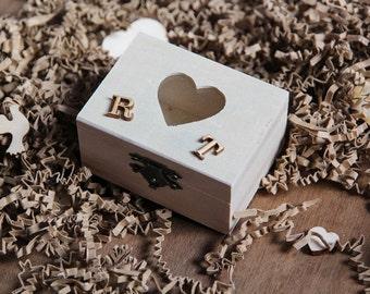 Customized Ring Box, Wedding Ring Bearer Box, Pillow Alternative, Jewelry Box