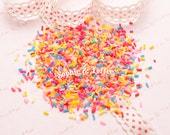Luminous Polymer Clay Fake Sprinkles Topping - 20 grams | Fake Cake Sprinkles