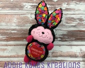 Custom Plush Valentine's Day Bunny / Somebunny Loves You / Stuffed Animal / Ready to Ship