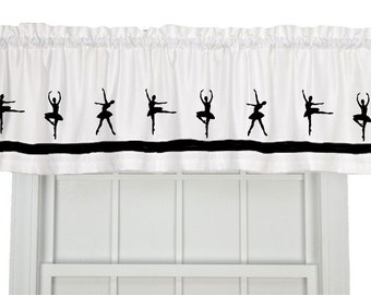 Ballet Dancer or Ballet Shoes Window Valance Curtain - Your Choice of Colors
