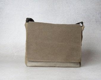 mens canvas messenger bag, mens messenger bag, upcycled bag, messenger bag men, vegan messenger bag, messenger bag laptop
