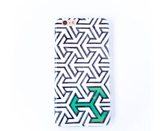 Arrows iPhone 6S Case, Green, Black and White iPhone 5S,  Samsung Galaxy, Arrow iPhone 6S Plus Case