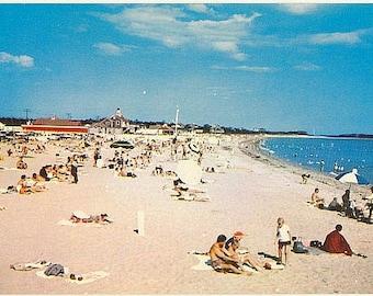 Vintage Cape Cod Postcard - Beachgoers at Craigville Beach (Unused)