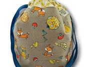 """Woodland Critters - """"One Skein""""  Project Bag for Knitting, Crochet, or Embroidery"""