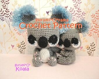 amigurumi Koala crochet pattern PDF guide INSTANT DOWNLOAD