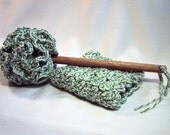 Country Kitchen Set - Dish Mop & Dish Cloth - Handmade Cotton Yarn in Ecru/Sage Twist Color - Great Housewarming Gift - The Perfect Set!