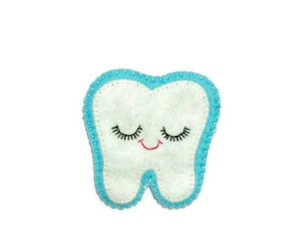 Tooth Patch - Embroidered Patch - Dentist Patch - Sewn On Patch - Sweet Tooth Patch