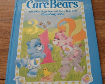Vintage 80s CARE BEAR book Baby Hugs and Baby Tugs Counting Book