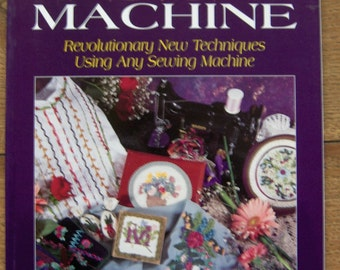 1996 embroidery pattern book RIBBON EMBROIDERY by Machine