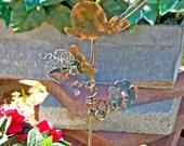 Snail Decor / Sculpture / Ornament / Metal Yard Art / Copper Garden Art / Artist Favorite / Garden Stake/ Plant Stake / Handmade / Gift