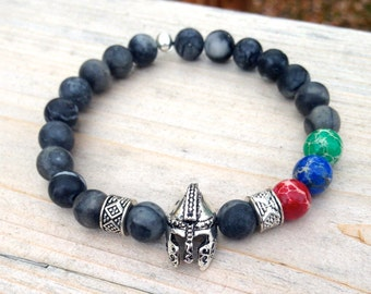 Trifecta Spartan Race Unisex Bracelet. Two styles, grey/silver or brown/bonze
