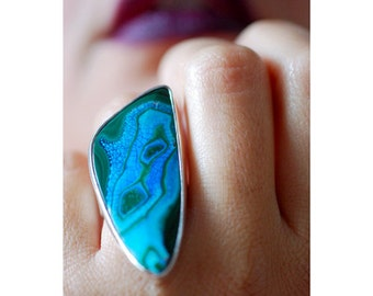 Kindred Ring Malachite Chrysocolla