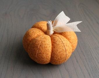 Pumpkin Pincushion Rustic Orange Floral Cotton Pumpkin Pin Keep Autumn Fall Pumpkin Spice