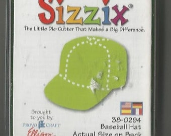 Basball Cap Sizzix Green Die