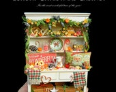 SALE - Luxury Christmas Cabinet - Artisan fully Handmade Miniature in 12th scale. From After Dark miniatures.