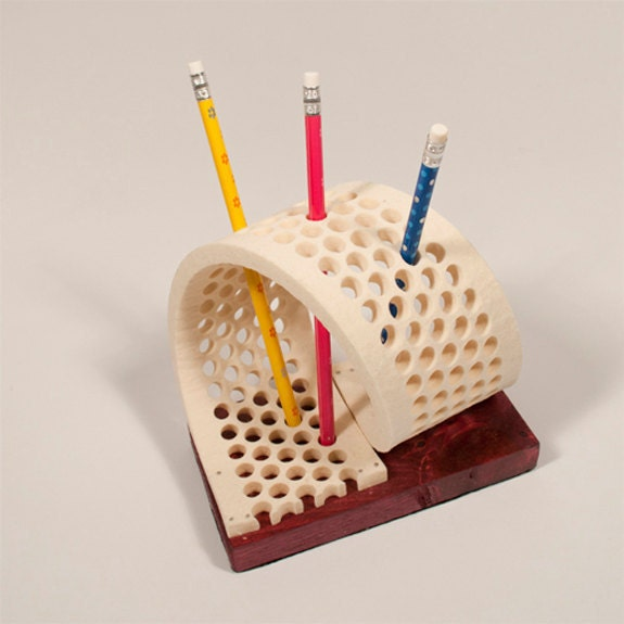 Wool felt pen pencil holder desk accessory 100 wool felt Cool pencil holder ideas