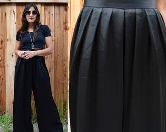 Vintage Carmen Marc Valvo HIGH WAIST Wide Leg PALAZZO Pants Trousers