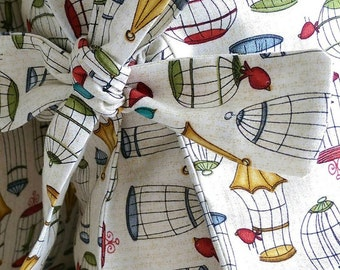 SALE Handmade Polly's Birdcage Tied Pillow Cover
