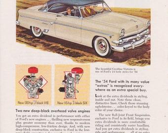 Vintage '54 Ford Ad