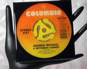 George Michael - Very Cool Drink Coaster Made with The Original 45 rpm Record